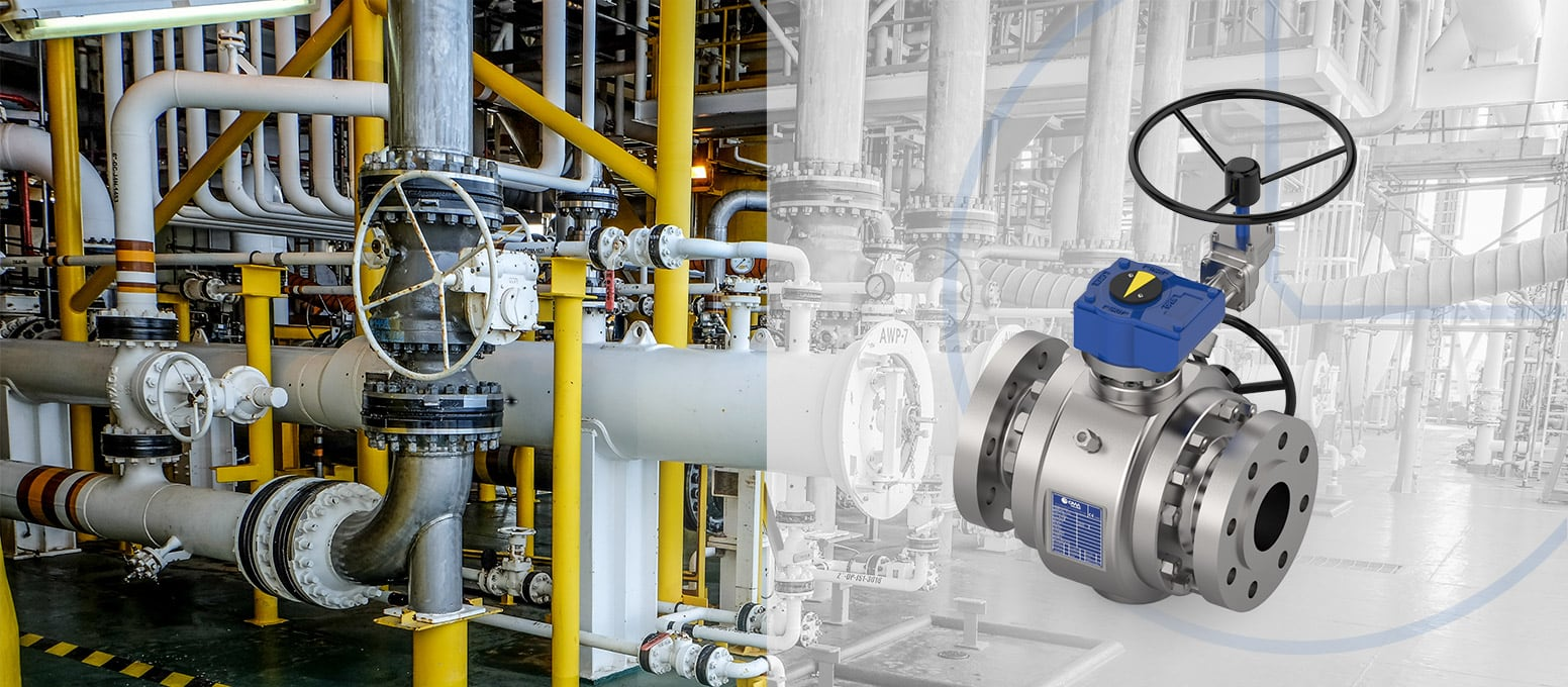 Through conduit gear operator